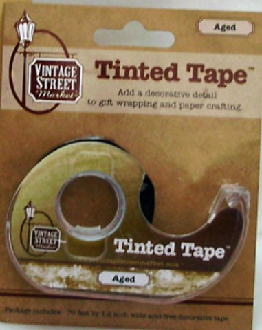 Aged Tinted Tape 48 pcs sku# 1883249MA by Vintage Street Market Inc