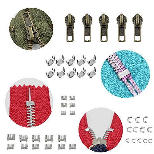 YaHoGa 143 Pieces Zipper Repair Kit Zipper Replacement with Zipper Install Plier for Bags, Jackets, Tents, Luggage, Backpacks, Sleeping Bag