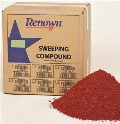 Grit Oil Base Sweeping Compound - Renown REN04012 Sweeping Compound Oil Base, No Grit, 50 lb. Box, Red