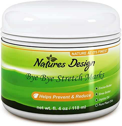 Effective Stretch Mark & Scar Fading Cream - Reduces Pregnancy Stretch Marks & Fades Scars, Fine Lines & Wrinkles