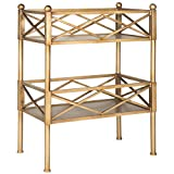 Safavieh American Home Collection James Gold Storage Shelves