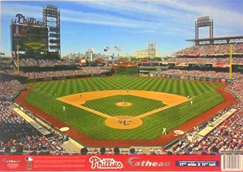 Baseball Stadium Mural - Philadelphia Phillies FATHEAD Baseball Stadium Mural Official MLB Vinyl Wall Graphic 17