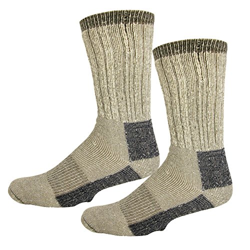 Rsg Kids   Adult Merino Wool Insulating Boot Socks  2 Pairs Pack  2 Pairs Gray  Large