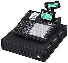 Casio SE-C450MB-FIS - Caja registradora (apta para GDPdU, incluye licencia de software, tarjeta SD y batería, paquete completo y línea de asistencia gratuita), color negro