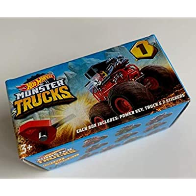 HW 2020 Monster Trucks Mini Mystery Box - Includes Power Key, Truck and 2 Stickers!: Kitchen & Dining