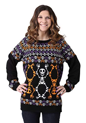 Halloween Skeleton Sweater (FUN Wear Day of The Dead Dancing Skeletons Halloween Sweater)