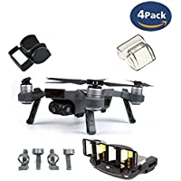 Fstop Labs Accessories Set Bundle Combo For DJI Spark, Lens Cap Hood Sun Shade Camera Cover Protector Landing Gear Antenna Range Booster By (4 pack)