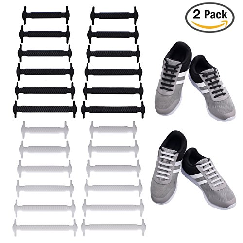 Uniqhia No Tie Shoelaces for Kids and Adults - Multicolor Fashion Sports Fan Shoelaces - Fits Most Types Shoes - Sneaker Boots, Board Shoes Sport Shoes and Leisure Footwear (2 Pack for (Boots Shoes For Kids)