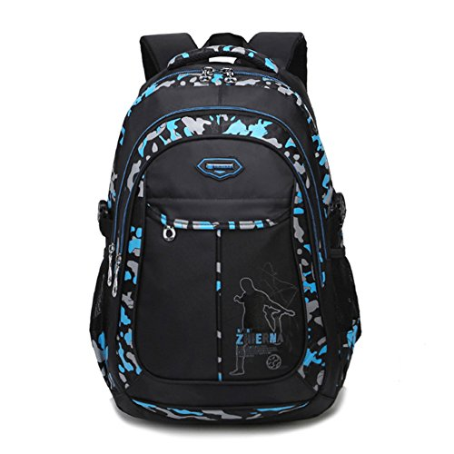 Abshoo Cool Boys School Backpacks For Middle School Student Backpack Elementary Bookbag (Black Blue)