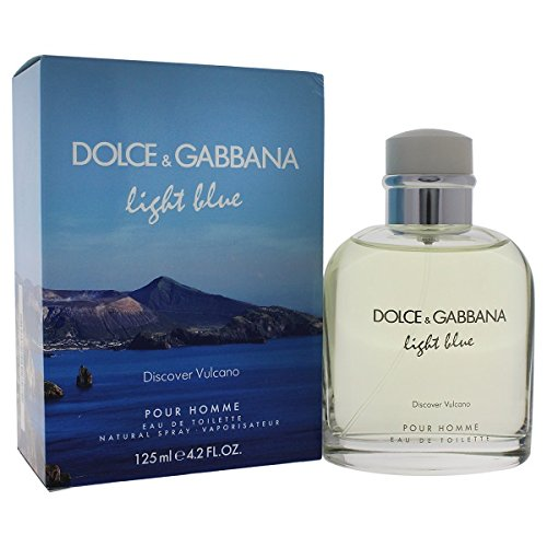 Dolce & Gabbana Light Blue Eau De Toilette Spray (Light Blue Discover Vulcano Dolce & Gabbana 4.2 oz EDT Spray For Men)