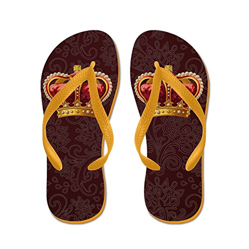 Sandals Gold Royal Beach Orange Flip Flops Cafepress Vintage Thong Funny Crown Of Sandals Iw1q6Px