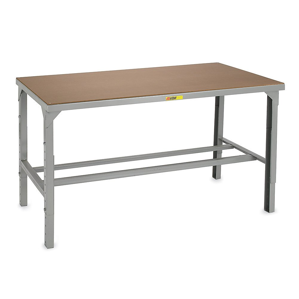 Little Giant 5000-Lb. Capacity Workbench With Hardboard-Over-Steel Top - 48X30'' Top - With 500-Lb. Capacity Lower Shelf - Adjustable