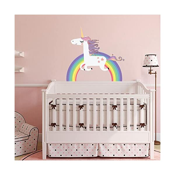 Havenport Rainbow Unicorn Wall Sticker for Girls Bedroom Wall Decal Art Nursery Home Decor 5