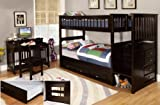 Discovery World Furniture Twin Over Twin Staircase Bunk Bed with 3 Drawer Storage, Espresso For Sale