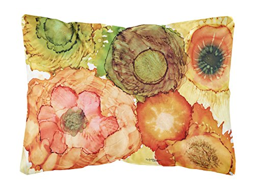 Caroline's Treasures Abstract Flowers Blossoms Fabric Decorative Pillow, 12