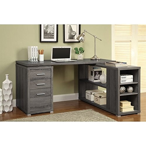 Coaster 800518 Home Furnishings Office Desk, Weathered Grey by Coaster Home Furnishings