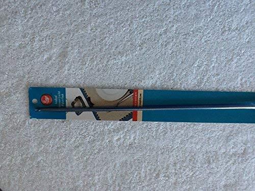 Boye 334621200KWA Anodized Aluminum Crochet Afghan Hook Blue 14 inches in Length ()