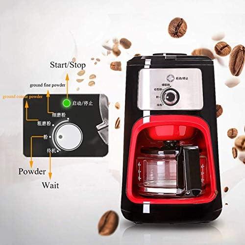 Bonen Koffiezetapparaat, 600ml Filter koffiezetapparaat met koffie Grinder en glazen karaf Permanent Herbruikbare Filter Anti-Drip System, 900w HUERDAIIT
