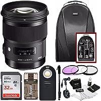 Sigma 50mm F1.4 ART DG HSM Lens for Nikon DSLR Cameras w/ Sigma USB Dock & 32GB Premium Travel Bundle