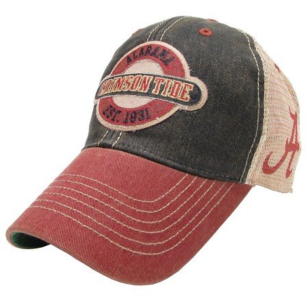 Alabama Crimson Tide Hat Adjustable Trucker Style with A Logo on ()