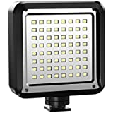LED Video Light, AOOE 64 LED Ultra Bright Dimmable Camera Panel Light for Canon, Nikon, Pentax, Panasonic, Sony, Samsung, Olympus and All DSLR Cameras