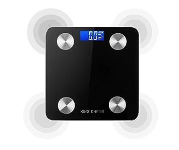 PLYY Báscula de Peso con Grasa Corporal y aplicación de Bluetooth para controlar la composición Corporal
