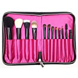 MONOMONO-12 Slots Pro Cosmetic Bag Makeup Brushes Pencil Case Holder Roll Bag Pouch