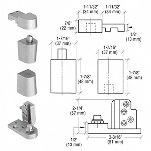 CRL Aluminum Offset Left Hand 0P70 Series Pivot Set 0P70LHA ()