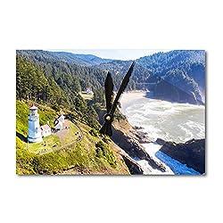 Lantern Press Heceta Head Lighthouse On The Oregon Coastline A-9011234 (Acrylic Wall Clock)