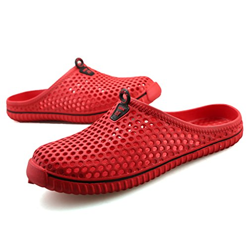 All'aperto Ciabatte per Estate Pantofole Pattini Donne Sabot Spiaggia Rosso da Uomini Scarpe Casa Slippers SAGUARO tXqw1RX