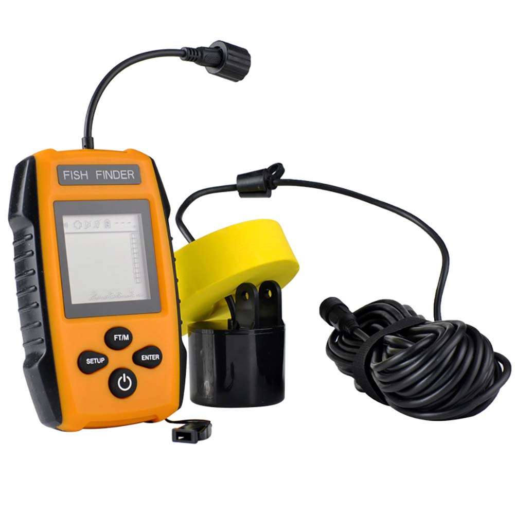 Portable Fish Finder, Stable Rope Design Easy to Use Ultrasonic Fish Finder Direct Large Medium and Small Fish at A Glance