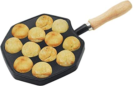 Piastra for Padella Antiaderente Takoyaki for Cottura al Forno Takoyaki Pan Ghisa