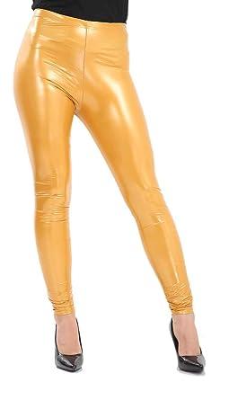 c411cf11384 Femmes Vinyle Legging Dames PVC Effet Mouillé Brillant Disco Taille Haute  Skinny Pantalon UK 8-