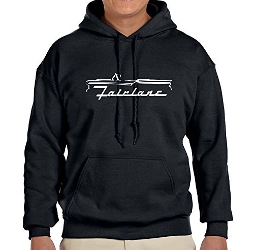 1957-59 Ford Fairlane Convertible Classic Outline Design Sweatshirt HoodieXL black ()