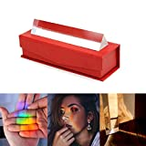 CARESHINE Crystal Prism, Crystal Optic Glass Photography PrismTriangular Refraction Prism 15cm Physics Experiment Optical Instruments with Red Package Box