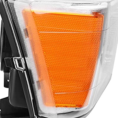 AUTOSAVER88 Headlight Assembly Compatible with 2004-2012 Chevy Colorado/GMC Canyon Chrome Housing with Amber Reflector + Bumper Lights (Passenger & Driver Side): Automotive