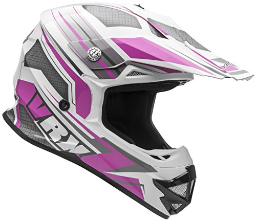 Vega Helmets VRX Advanced Off Road Motocross Dirt Bike Helmet (Pink Venom Graphic, Medium)