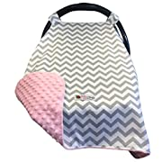 Carseat Canopy Cover | Doubles as a Convenient Breastfeeding or Shopping Cart Cover | Car Seat Canopy Accessories Are a Perfect Baby Shower Gift For Baby Girls and Boys!
