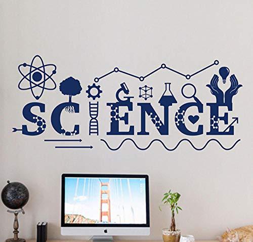 wsydd Science Wall Decal Vinyl Sticker School Education Home Office Murals Classroom Interior Wall Decals 101X42cm (Holz 4 Sie)