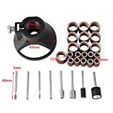 29pcs Drill Carving Positioner Locator with Sanding Bands and Rotary Milling Burrs