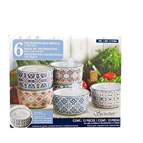 Top 10 best signature housewares 6-piece stoneware storage bowls: Which is the best one in 2019?