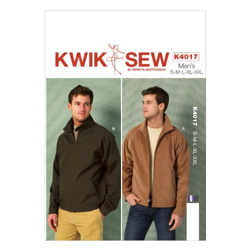 KWIK-SEW PATTERNS K4017 Men's Jackets Sewing Template, All Sizes - Mens Jacket Patterns