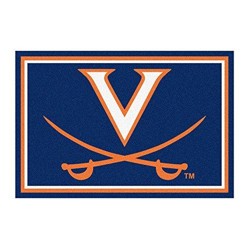 FANMATS NCAA University of Virginia Cavaliers Nylon Face 5X8 Plush - Cavaliers Rug Virginia Football