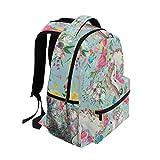 School Backpacks Flower Horse Student Backpack