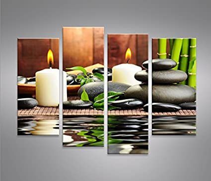 Zen Stones 4 Quadri moderni su tela - pronti da appendere - montata ...