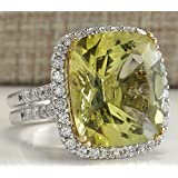 Fashion Women 925 Silver Peridot Wedding Engagement Gifts Ring Jewelry Size 6-10 (8)