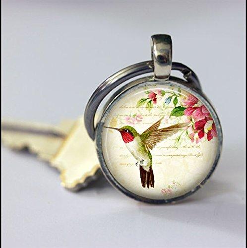 Keychain Vintage Hummingbird Keychain,Vintage Animal Art Pendant Key Chain,Handmade Keychain,Vintage Jewelry,Fashion Jewelry for Women Or Men