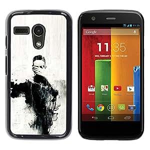 For Motorola Moto G1 / X1032 Case , Eyes Art Painting Hand Coal - Diseño Patrón Teléfono Caso Cubierta Case Bumper Duro Protección Case Cover Funda