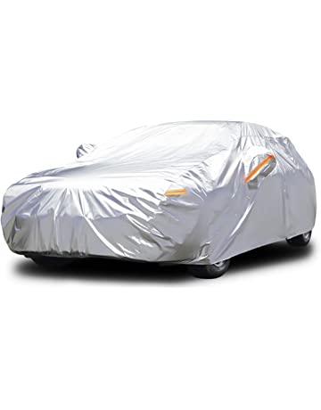 Audew All Weather Car Cover 6 Layer Breathable UV Protection Waterproof Dustproof Universal Fit Full Car