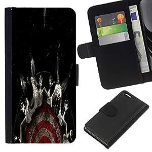 All Phone Most Case / Oferta Especial Cáscara Funda de cuero Monedero Cubierta de proteccion Caso / Wallet Case for Apple Iphone 5C // Target Fear Black Dark